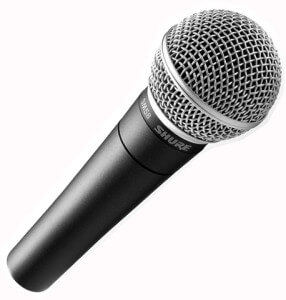 Shure SM58 Microphone Hire Fusion, Sound and Light
