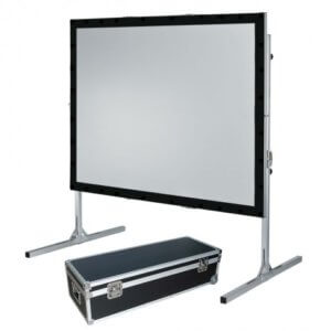 """120"""" 8x6ft Fast Fold Projector Screen Hire London and Surrey - Fusion Sound & Light"""