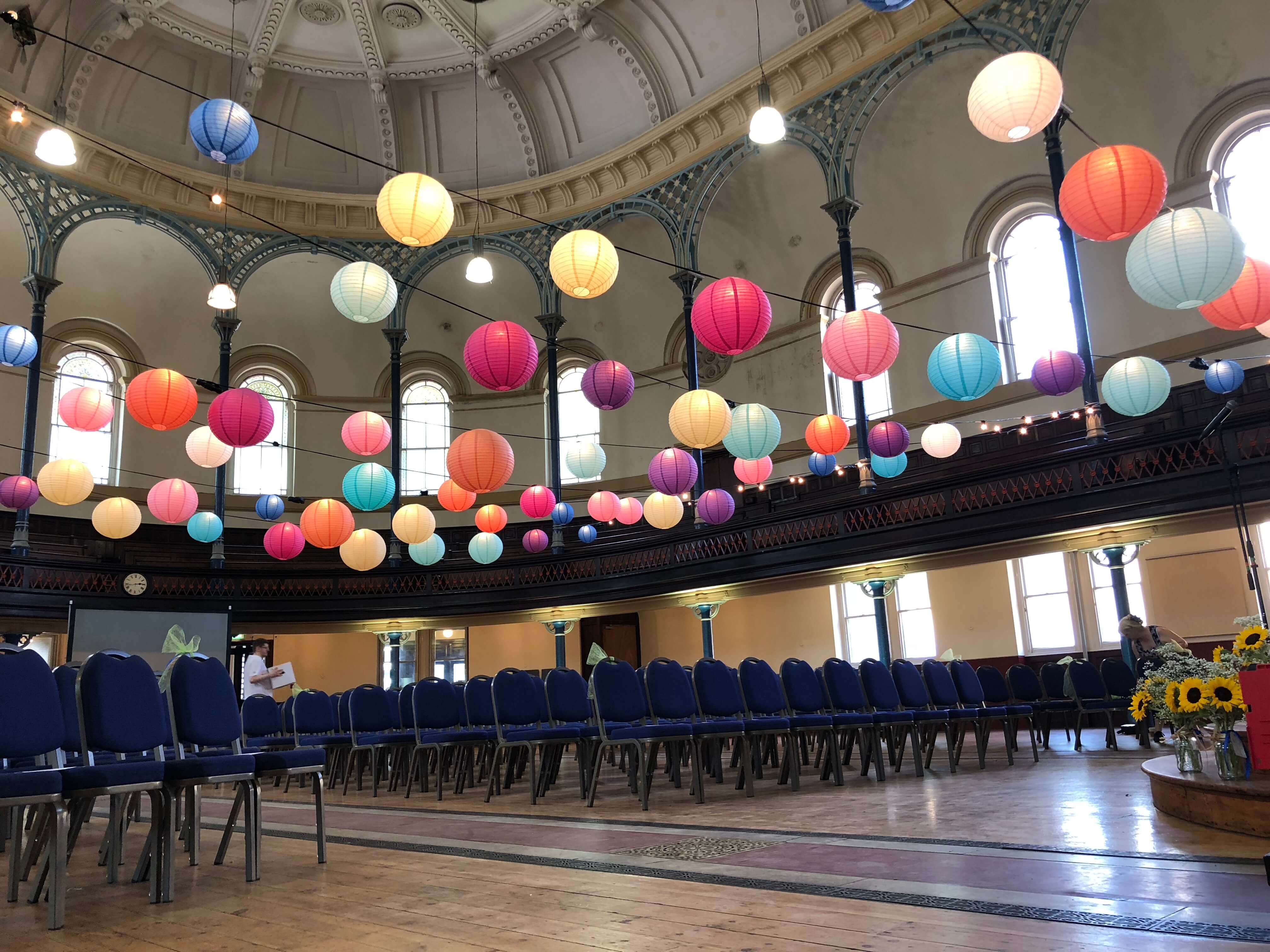 The Round Chapel Hackney Wedding Festoon - Fusion Sound & Light