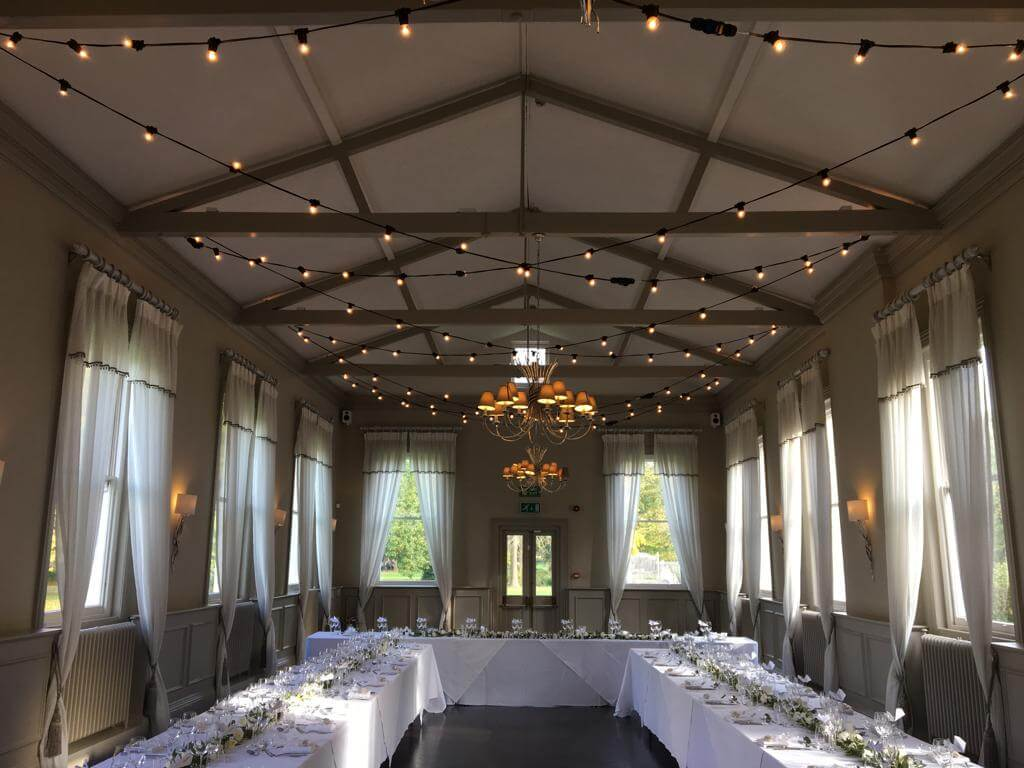 Morden Hall Wedding Festoon - Fusion Sound & Light