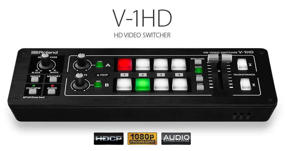 Roland V-1HD Video Switcher Hire London & Surrey - Fusion Sound & Light