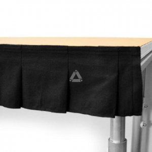 Prolyte StageDex Pleated Skirting Hire - Fusion Sound & Light