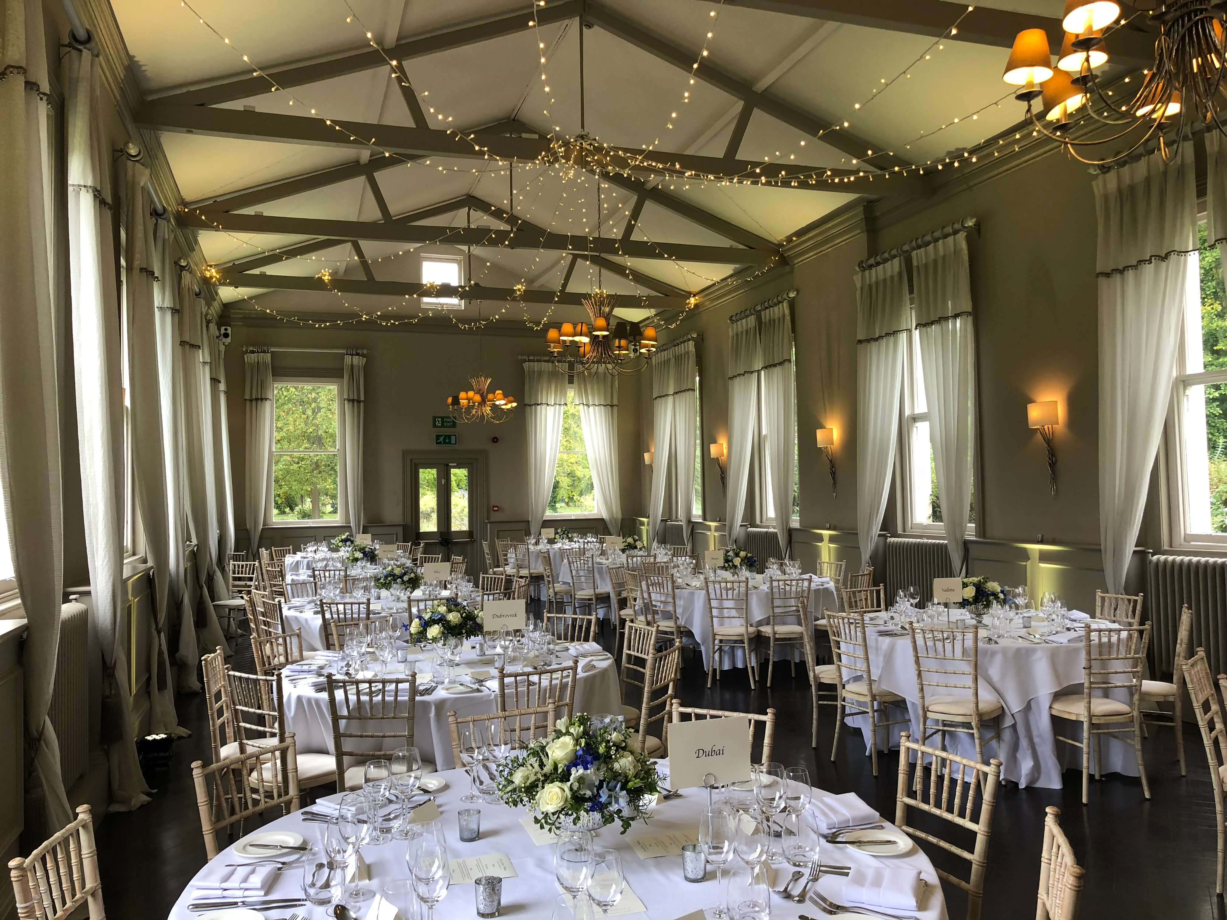 Morden Hall Weddings, Fairy Light Canopy Hire - Fusion Sound & Light